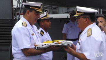 Vice Almirante Rocha fala sobre a transferência do Navio Patrulha Guaporé
