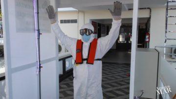 Túnel de Sanitização protege práticos e marítimos por Lélio Console